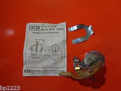 National C8720 Mail Box Lock Keys 5-pin Tumbler Dura Steel Fc720 New