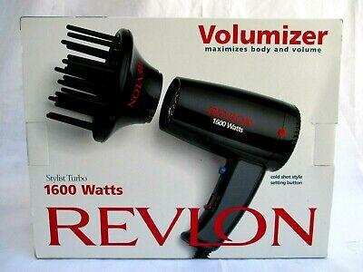 REVLON..VOLUMIZER..STYLIST TURBO..1600 WATTS..HAIR DRYER..NEW in BOX Turbo Stylist Dryer