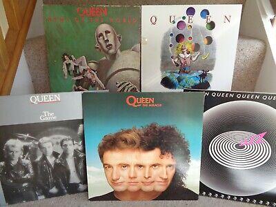 QUEEN 5 VINYL LP's JOBLOT COLLECTION