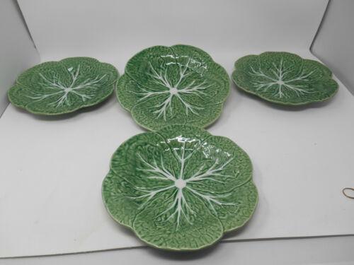 Set of 4 Bordallo Pinheiro Green Cabbage Leaf Dinner Plates 9 1/4 inch