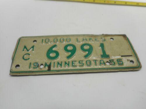 Vintage 1956 MINNESOTA MN Motorcycle MC License Plate Tag