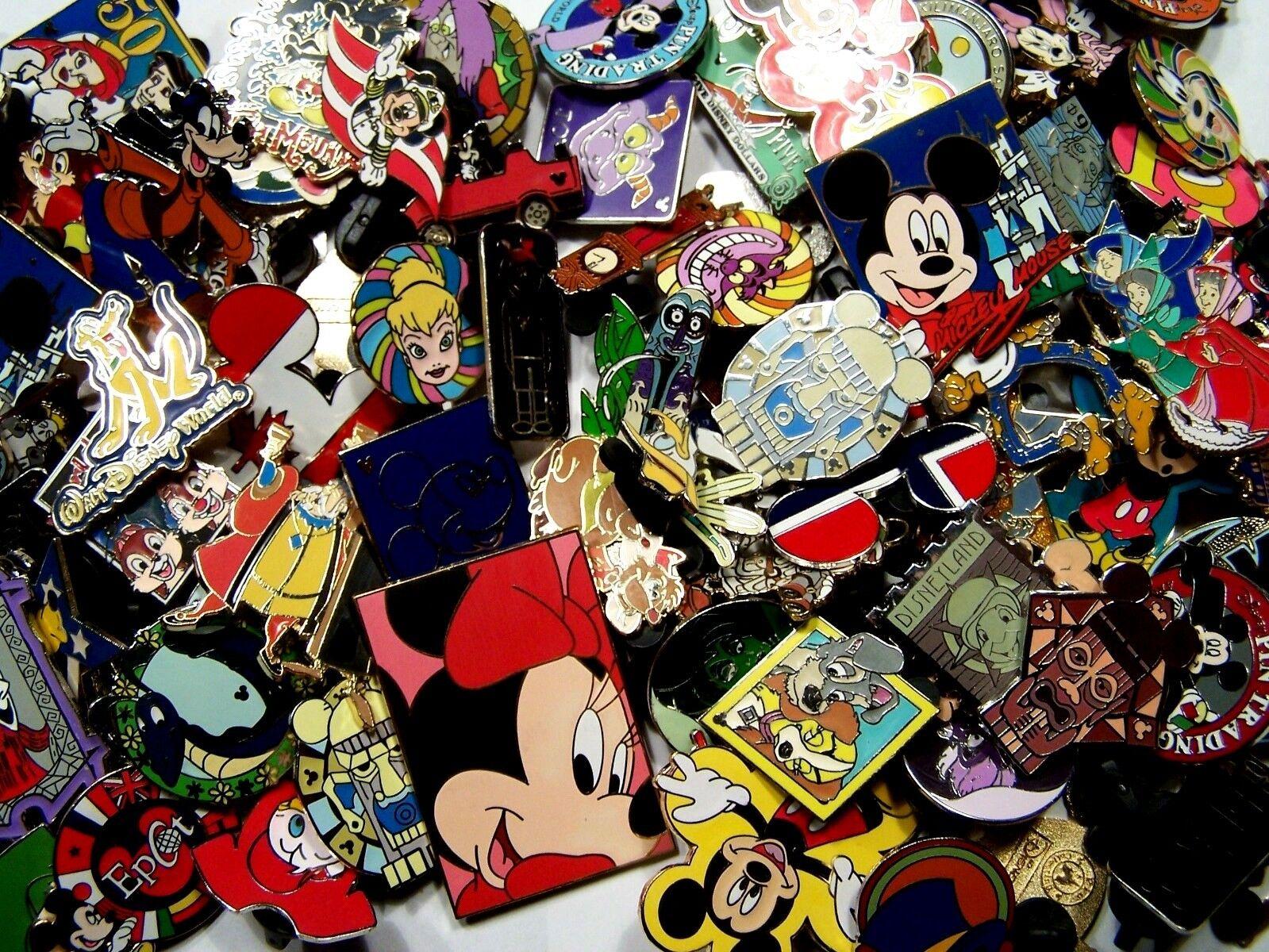 DISNEY PINS lot of 100 pins Free Shipping 100% tradable no duplicates