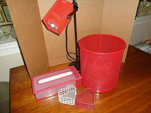 Style Built desk Accessory set   RED