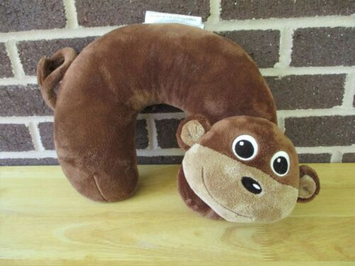 "Monkey Neck Pillow Toddler Neck Support Brown 11"" x 11""  Plush Target Store 2014"
