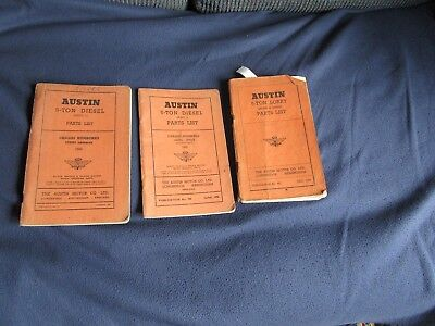 3 Austin 5 Ton Parts List - See Photo