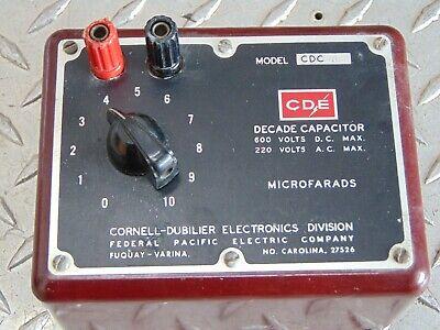 Cde Cornell Dubilier Cdc3 Decade Capacitor