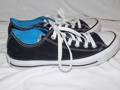 Converse Chuck Taylor All Star Oxford Low Double Tongue Black/Blue 7 - Chuck Taylor All Star Oxford