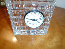 VINTAGE WATERFORD LARGE 5X5 SQUARE OFFSET CLOCK ~ PREOWNED ~ MINT CONDITION ~