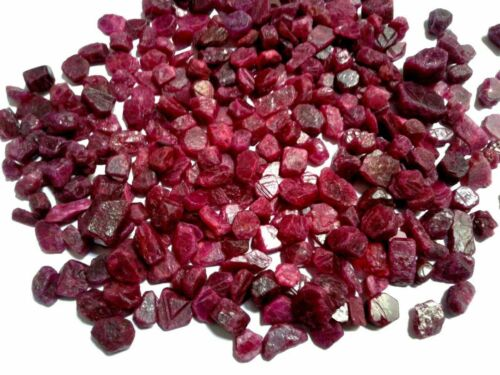 GENUINE EARTH MINED 25ct Lot BEAUTIFUL NATURAL RED RUBY BURMA ROUGH GEMSTONE