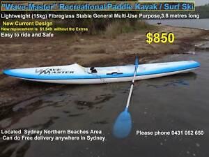 Kayak Sit On Top Kayak   Surf Ski  VERY Light 15kg Multi-Use