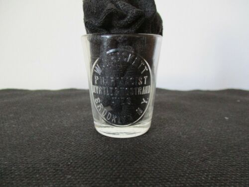 Late 19th Early 20th Century Dosage Glass Hackett Pharmacist Brooklyn New York