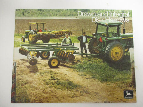 John Deere Drawn and Integral Disk Harrows Sales Brochures  !