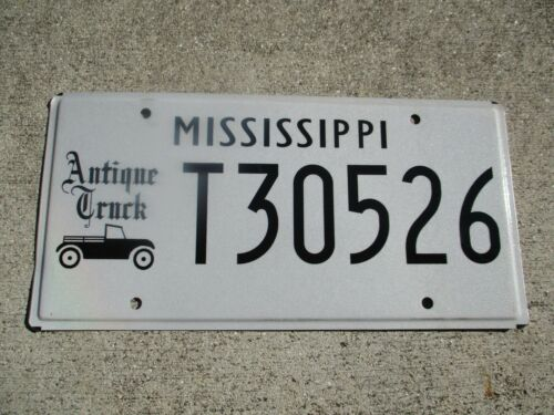 Mississippi Antique Truck license plate  #  T 30526