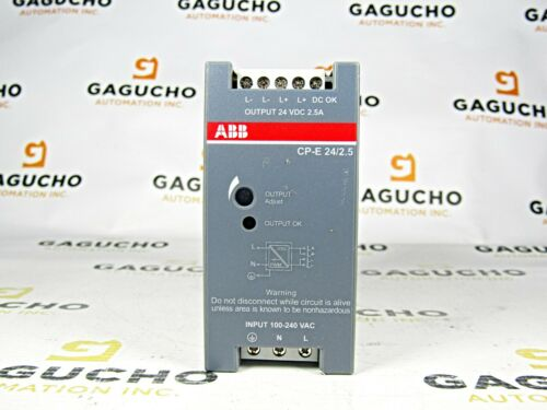 ABB CP-E 24/2.5 IN:100-240 VAC 47-63HZ Power Supply Out: 24VDC, 2.5A