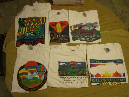 Lot of Great Forest Park Hot Air Balloon Race T-Shirts XL From the 2000