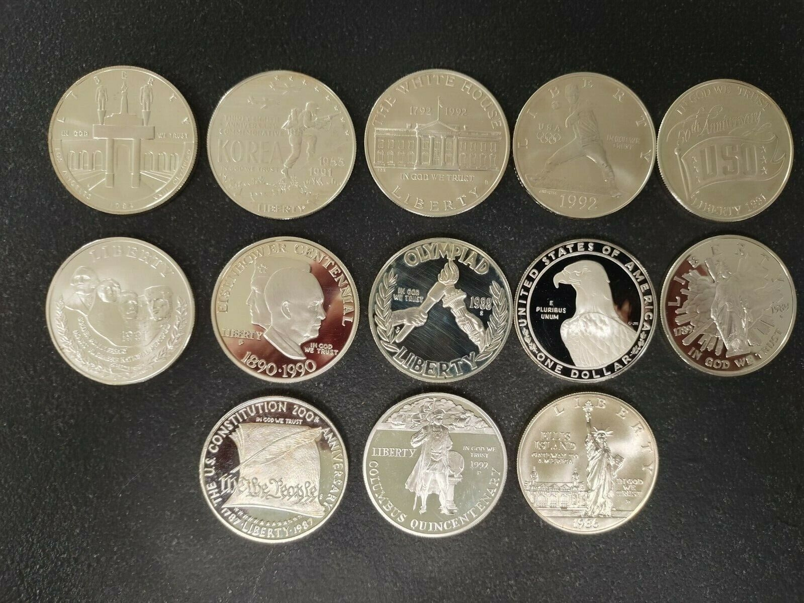Lot Of 13 1 Oz .999 Silver Uncirculated Commemorative Coins - $265.99