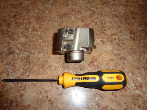 """INGERSOLL 2 1/4 """" INDEXABLE FACE MILL  ,  PLUS WRENCH"""