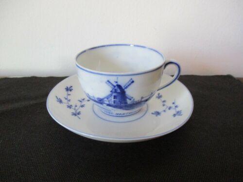Circa 1900 Souvenir Delft Cup & Saucer Old Mill Nantucket Massachusetts
