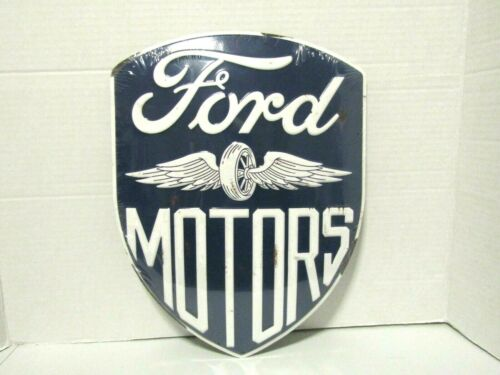 FORD MOTORS SHIELD TIN METAL  SIGN NEW