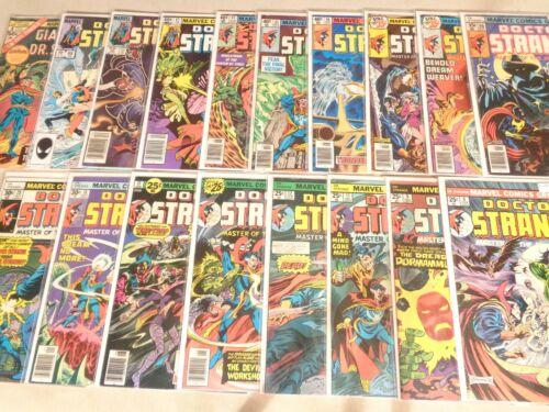 Lot of 18 Doctor Strange #6-69 Dracula Lilith Blade Satan Man-Thing 1975-1985