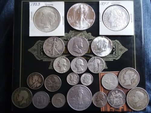 HUGE Collection Morgan Peace Eagle Dollar Atleast 10 Silver Coin LOT + Extras
