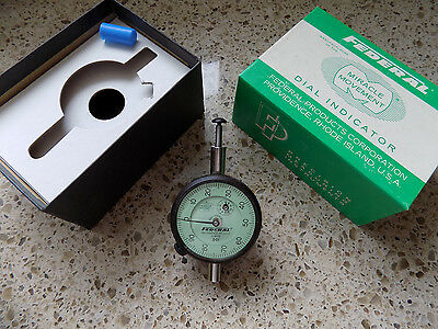 Dial Indicator Federal C8iq .001 Usa Shop Machinist Inspection Lath Tool Cnc