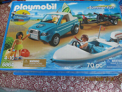 Playmobil 6864 Surfers & Pickup with Speedboat & trailer with Underwater Motor