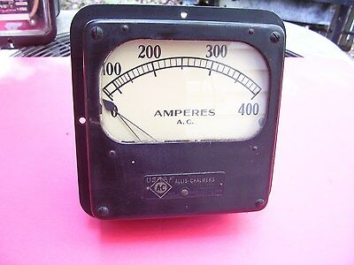 Rare Find Antique Vintage Allis Chalmers Electric Amp Meter Steam Punk