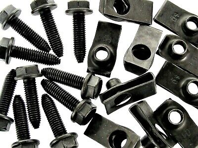 GM Body Bolts & U-nut Clips- M8-1.25 x 30mm Long- 13mm Hex- 40 pcs (20ea)- #132F