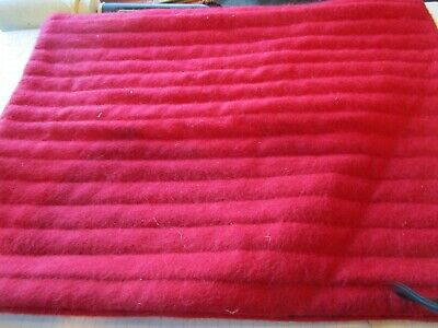 Williams Sonoma red cashmere quilted pillow cover 12 X 16 New -