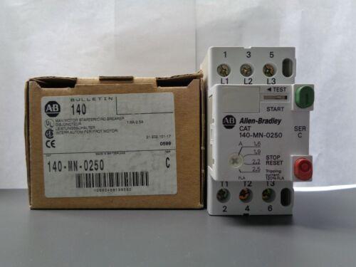 New Allen Bradley 140-MN-0250 Motor Starter Circuit Breaker Series C NIB