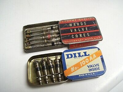 Original 1920 's- 1930s Vintage auto nos Tire valve stem cores Ford gm chevy