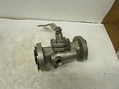 Hills-mccanna 1 Stainless Ss Jacketed Ball Valve 600lb 4 Bolt Flanged