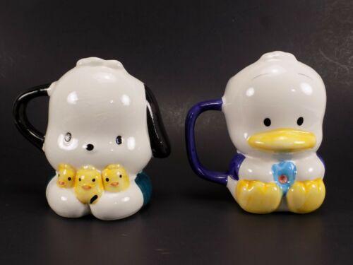Sanrio Pochacco Pekkle Ceramic Mugs Vintage Hello Kitty Rare