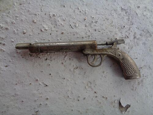 VINTAGE ANTIQUE WHISTLE GUN SHOTGUN RIFLE MADE IN JAPAN METAL TOY