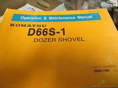 Komatsu D66s-1 Dozer Shovel Operation Maintenance Manual