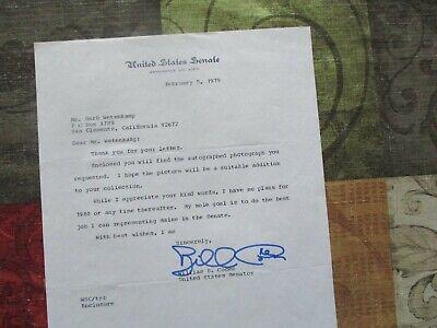 1979 William Cohen (Maine Senator) signed autograph request letter