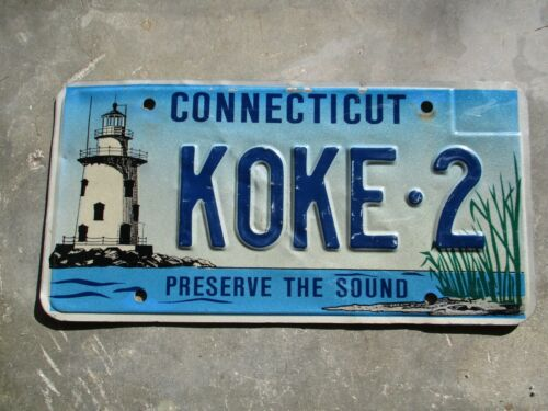 Connecticut  Lighthouse license plate #  KOKE - 2