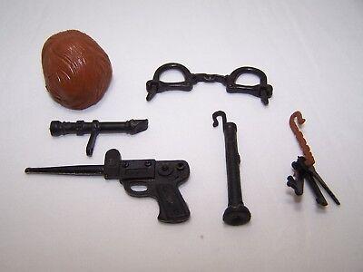 Secret Agent Accessories (VINTAGE MARX MIKE HAZZARD SECRET AGENT ACTION FIGURE ACCESSORIES LOT)