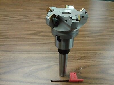 3 45 Degree Indexable Face Shell Mill W. Mt3 Arbor Face Milling Cutter-new