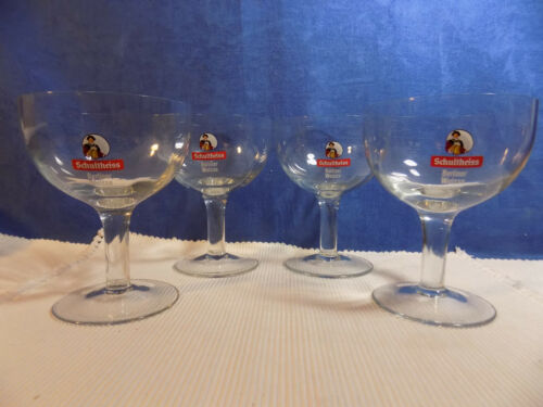 SET OF 4 SCHULTHEISS BERLINER WEISSE GERMAN 0.3L BEER GLASSES - EXCELLENT