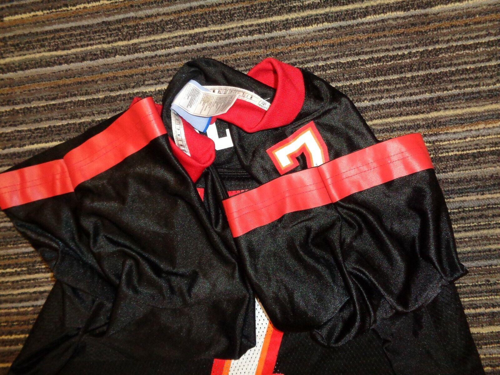 JEFF GARCIA 7 TAMPA BAY BUCCANEERS REEBOK BLACK NFL CFL GAME FOOTBALL JERSEY XL - $49.99