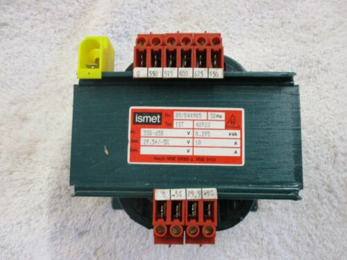 NIB ismet Transformer   550-650V    0.295kVA  10A       89/044985