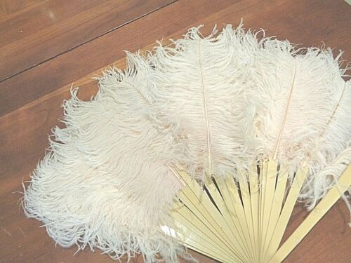 Antique  Pink Feather Fan 1900s