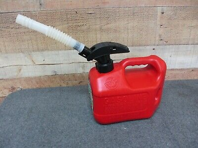 Blitz 1 Gal 4 Oz Plastic Gas Can With Enviro Flo Spout