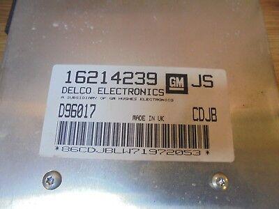 VAUXHALL CORSA B 1997 1.4 16V X14XE MANUAL ENGINE ECU 16214239 JS for sale  Bridport
