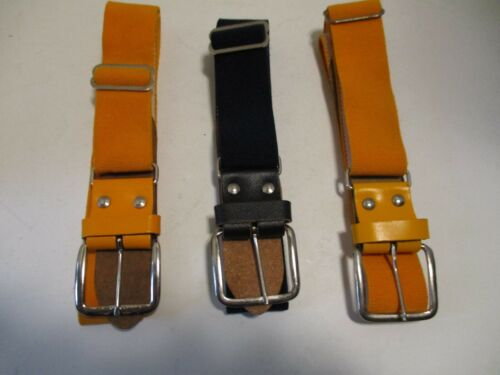 ( Lot of 3 ) Baseball Softball Elastic Adjustable Belt ( 2 Yellow & 1 Black )