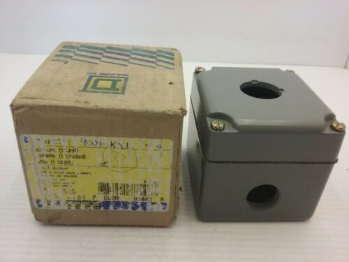 Square D 9001 Ky-1 Metal Enclosure 30mm Aluminium Control Station Ser A Nib
