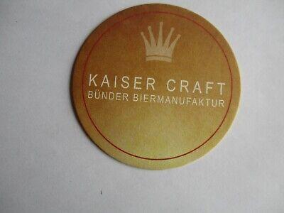 Bünde Bierdeckel der GHB Brauerei Kaiser Craft