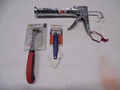Set Anneser Silikonschneider Fugenentferner+Glättespachtel+Auspresspistole